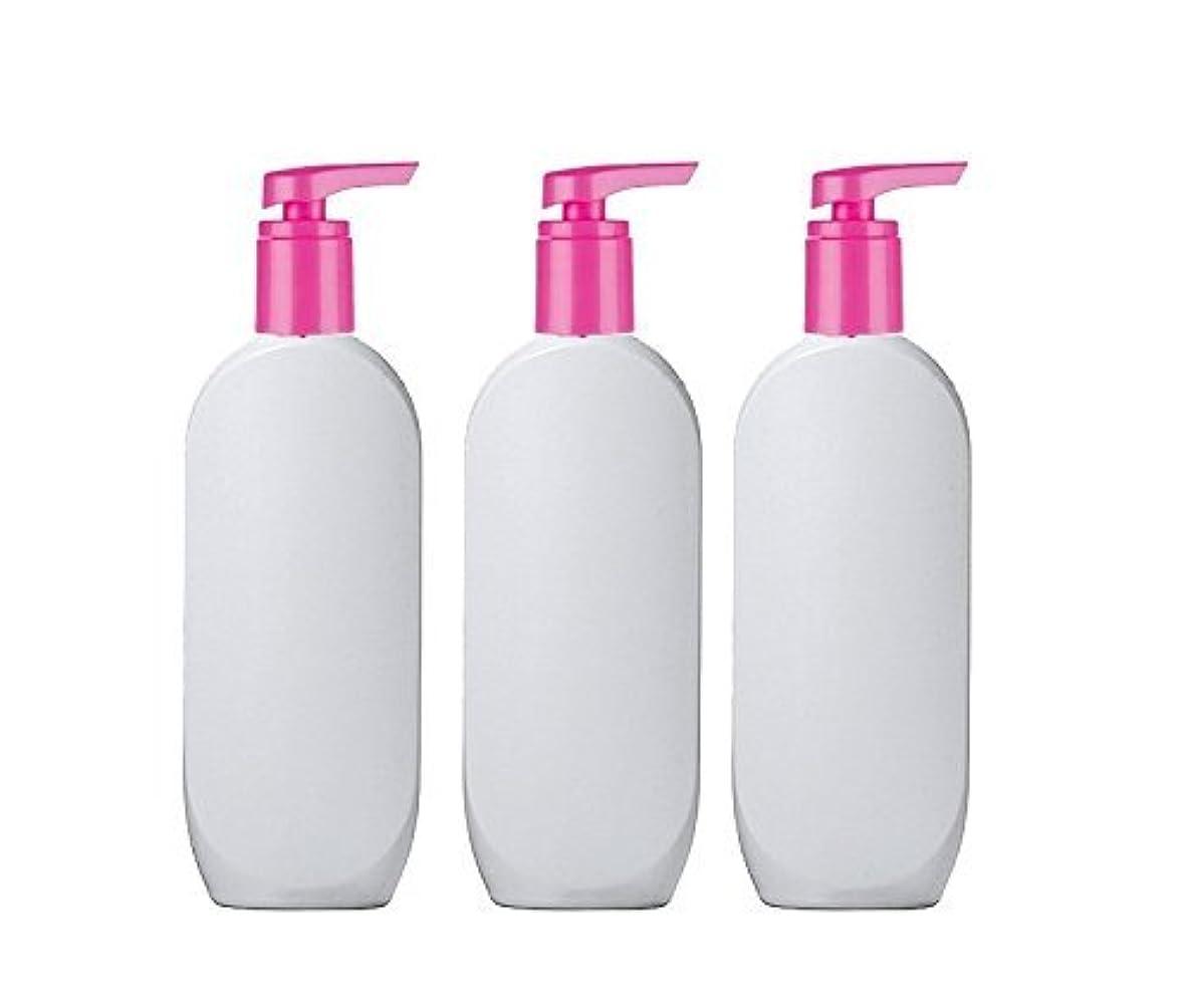 救いヘッドレスなかなか3 Grand Parfums HDPE Empire StylsPlastic Lotion Pump Bottles, 8 Oz with Hot Pink Pearlized Caps, for Shampoo,...