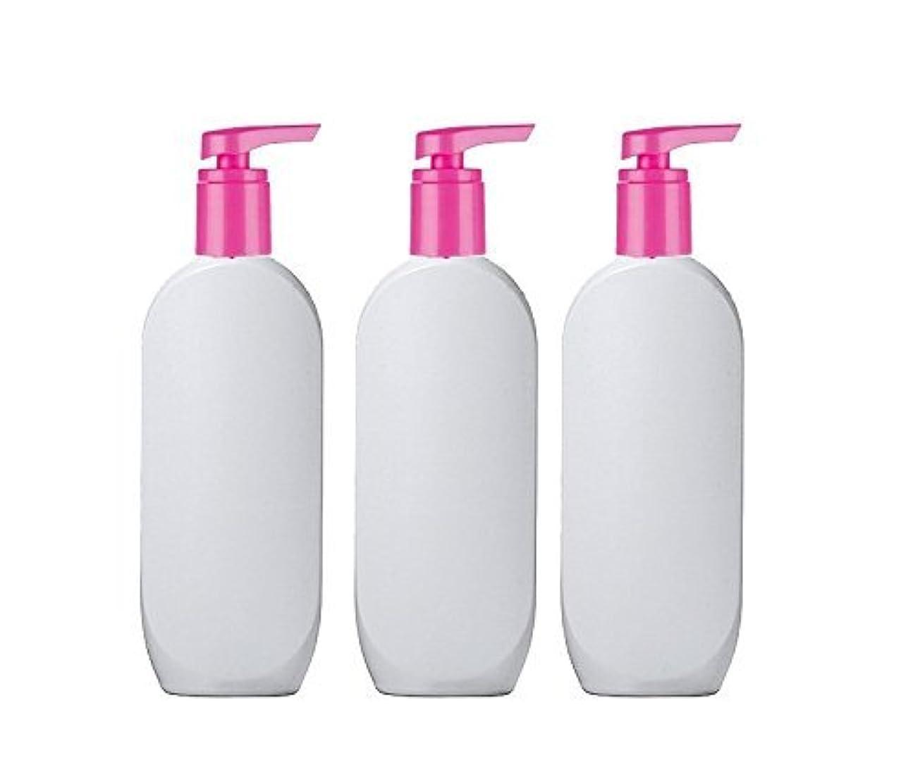 ディスコ生きている珍しい3 Grand Parfums HDPE Empire StylsPlastic Lotion Pump Bottles, 8 Oz with Hot Pink Pearlized Caps, for Shampoo,...