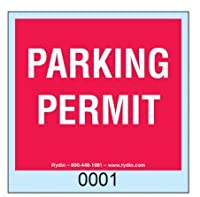 Parking Permit Decal – 100パック(レッド)