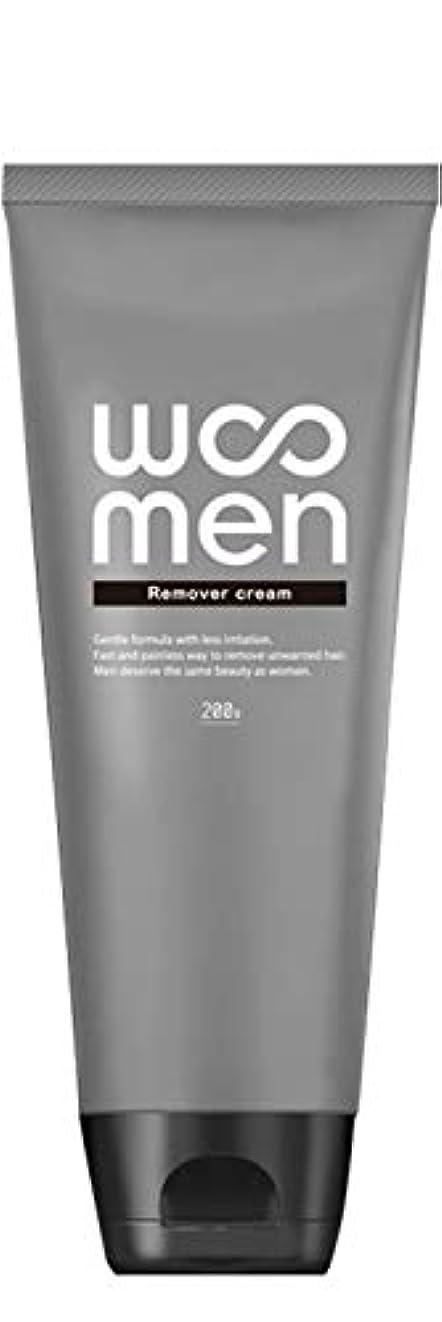 リレー定常有益医薬部外品 除毛クリーム 2in1 薬用 200g メンズ ボディ用 vio WOOMEN(ウーメン)