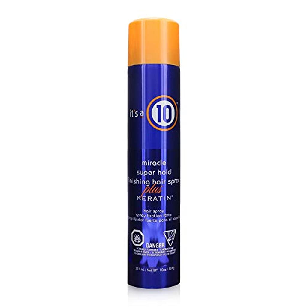 セーブ試用蜂by It's a 10 MIRACLE SUPER HOLD FINISHING SPRAY PLUS KERATIN 10 OZ by ITS A 10