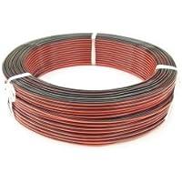 極東電線 色別平形ビニル電線 0.3m㎡ 100m巻 赤×黒 VFF0.3アカクロ×100m