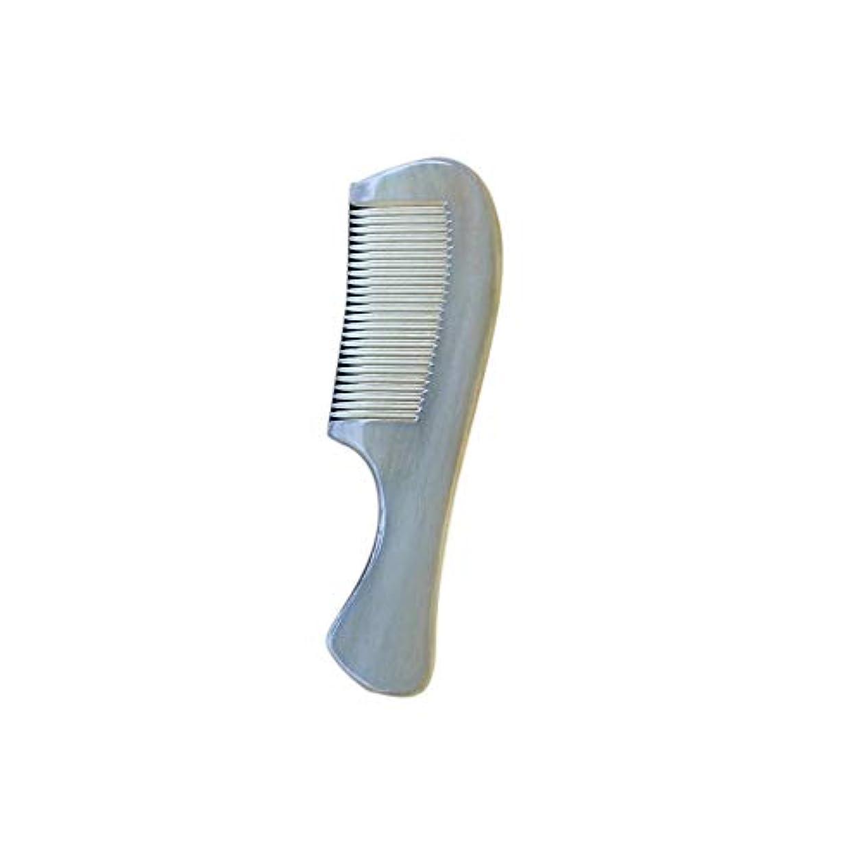 アクセシブル侮辱優遇WASAIO 羊の角の櫛手作りの木製抗静的カーリーストレートヘアブラシブラシナチュラルノーワイド歯髪のポケットマッサージ