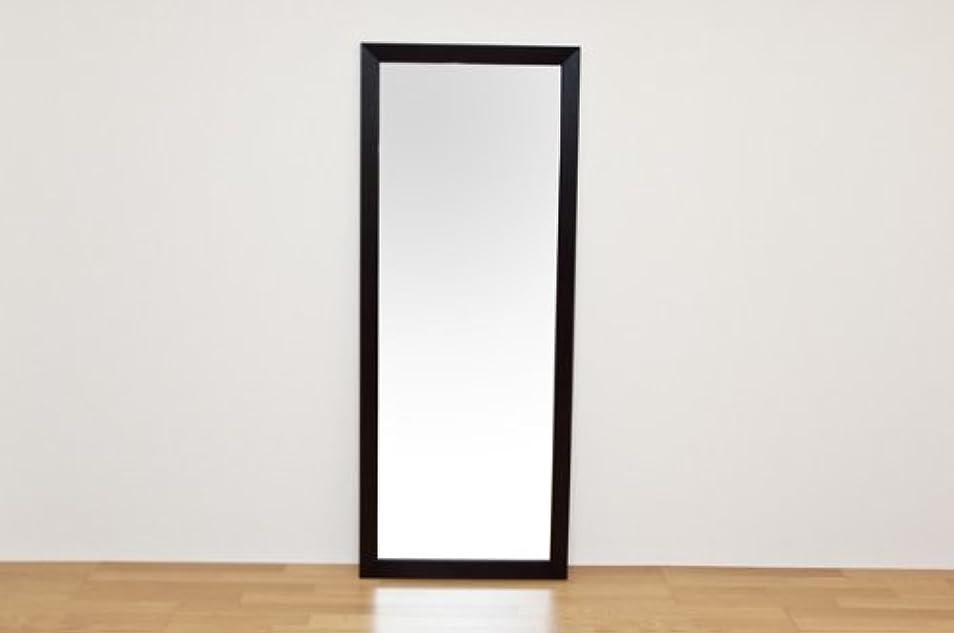 オーナーサイクロプス体操選手ジャンボミラー 立て掛けタイプ 幅66cm×高さ166cm[ダークブラウン]/転倒防止金具付属 大きい鏡 大型姿見