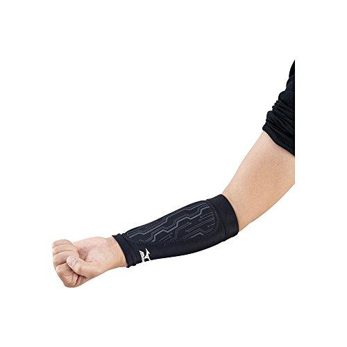 ミズノ バレーボール 腕 サポーター ユニセックス (2個セット) 衝撃吸収 アームガード V2MY6001 ブラック F