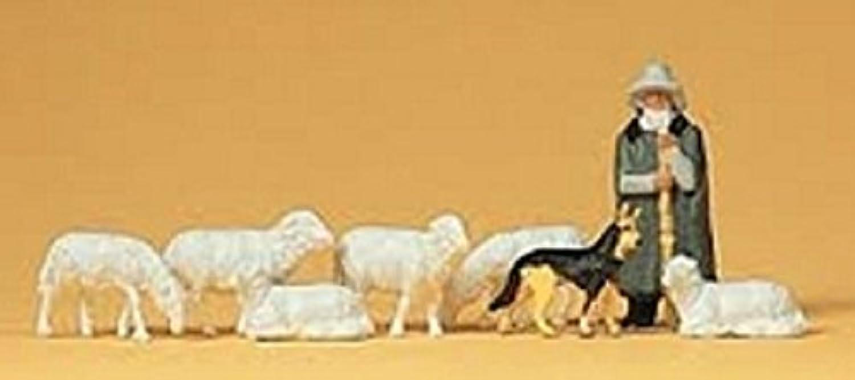 preiser PR14160 Shepherd w/Flock of Sheep & Dog HO Scale Preiser Models by Preiser [並行輸入品]