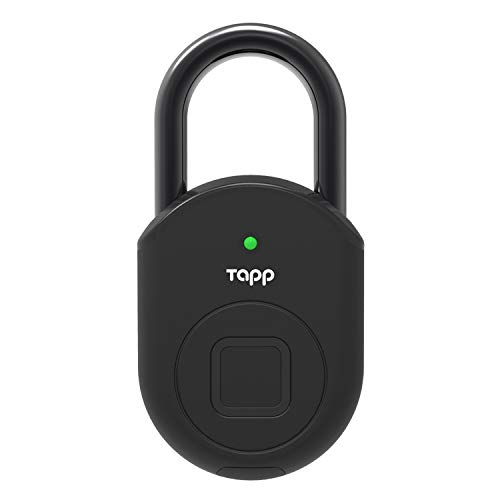 Tapplock lite (タップロック ライト) 指紋認証 南京錠 スマートキー スマートロック スマート南京錠 指紋 スマホ アプリ連携 iPhone/Android 対応 小型 共有