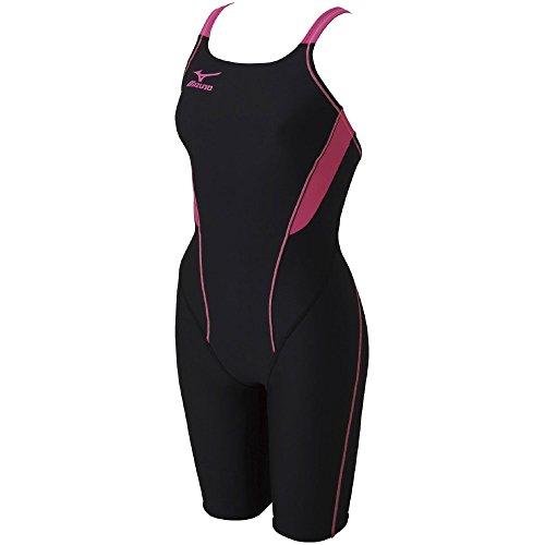 MIZUNO(ミズノ)競泳水着トレーニング・練習用レディースエクサースーツハーフスーツN2MG727497サイズ:Sブラック×ローズ