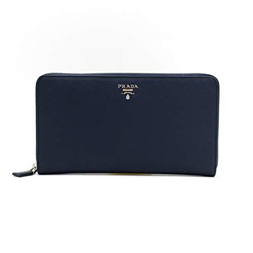 8af8d0333711 PRADA(プラダ) 2ML188 ファスナー leather wallet 長財布 (DARK BLUE) [並行