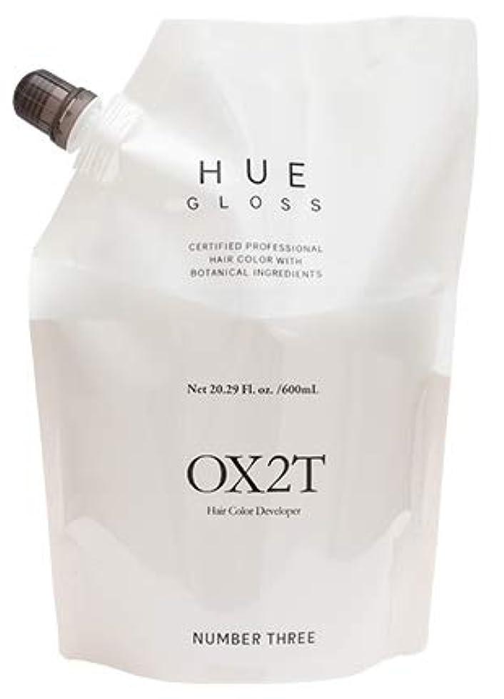 ボイコット推測楽観的ナンバースリーヒュウ OX2T 600mL 酸化剤(過酸化水素2%) 第2剤
