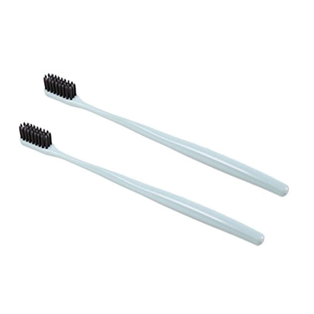 義務的プール行くTOPBATHY 子供と大人のための2本の柔らかい歯ブラシ天然竹炭歯ブラシ小さなヘッド歯ブラシ(グリーン)
