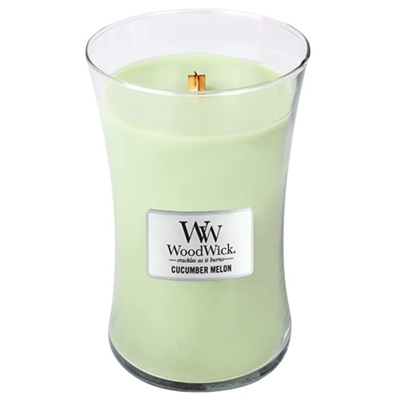 行進待つアーサーコナンドイルWoodWick Cucumber Melon Large Jar Scented Candle