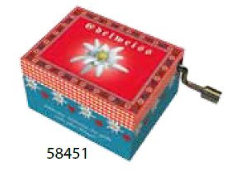 アート音楽ボックス – 赤で「エーデルワイス」redelweiss by Fridolin