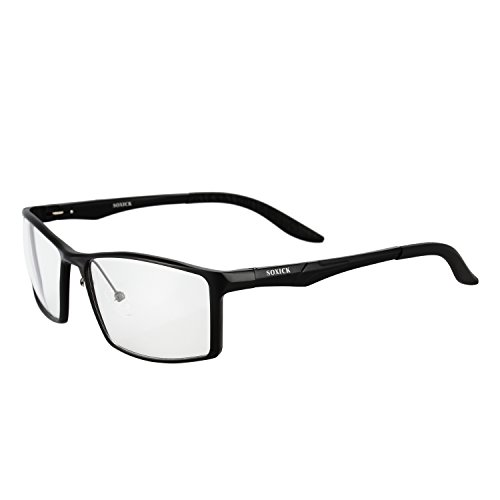 パソコンメガネ ブルーライトカット 度なし SoxickR ファッションメガネ お洒落 男女兼用 PCメガネ ブルーライト/青色光カット (4種類選択可)