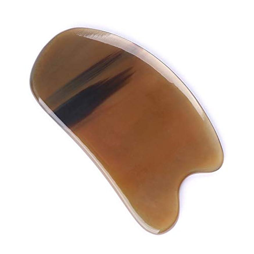 実際なかなか宣伝MUOBOFU ヤクの角製顔マッサージスクレーパー 弧状 顔マッサージ?カッサ?美容 多用