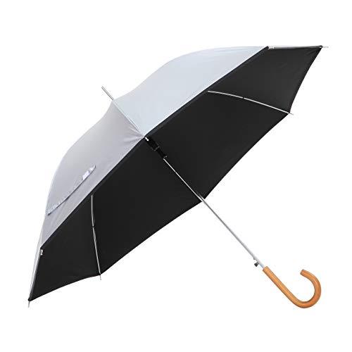 傘と日傘専門店リーベン 日傘 ブラック 60cm×8本骨 リーベンひんやり傘 無地ジャンプ傘 遮熱 遮光 LIEBEN-0102