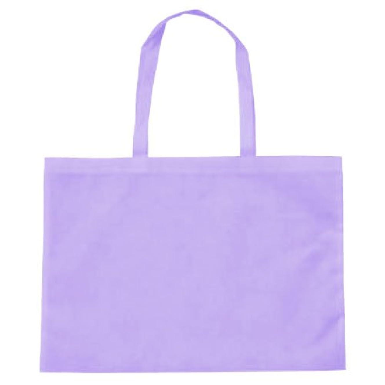 傾向がある特派員ビザ作品収納バッグ大 不織布 薄紫