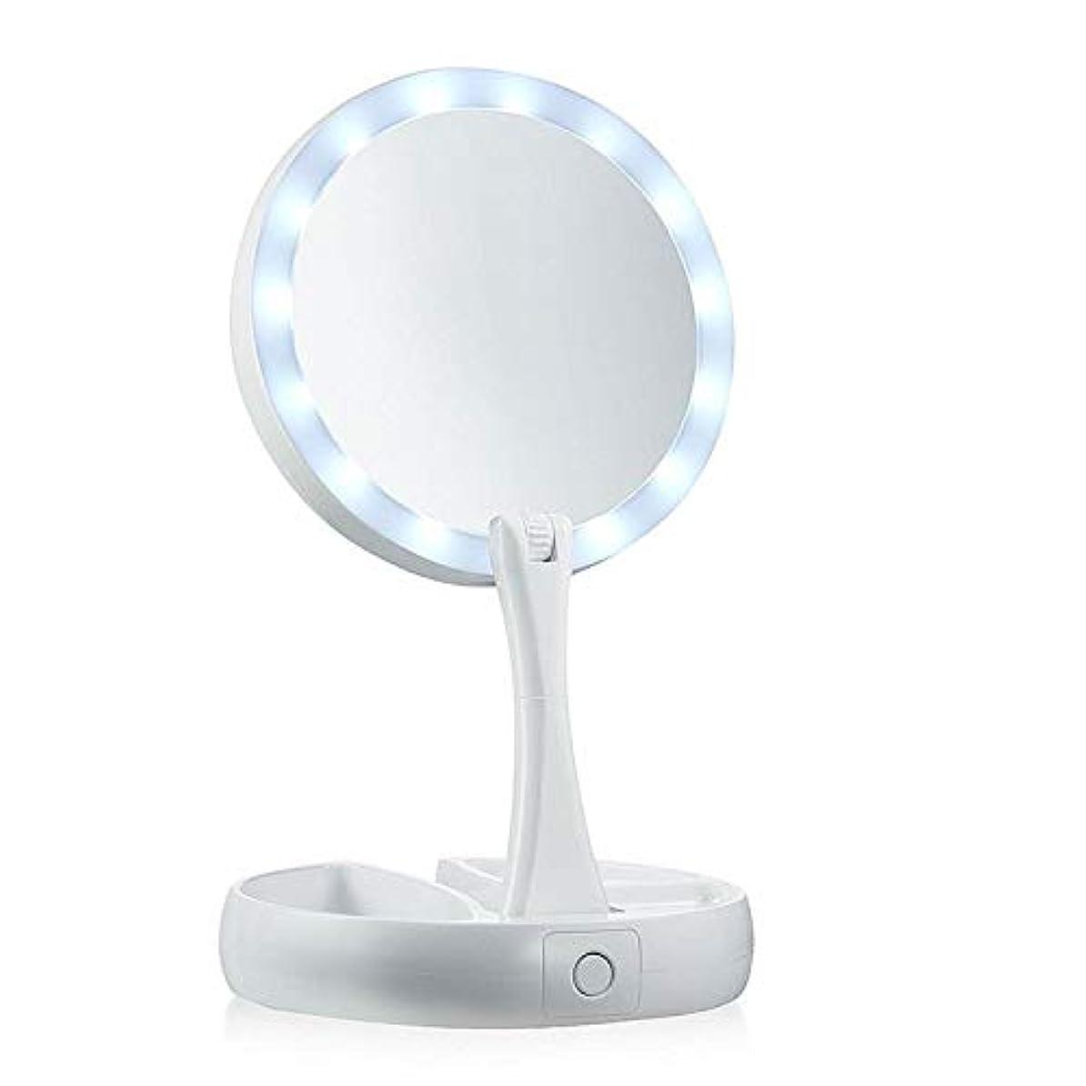証言するこんにちは誘惑するLED MAKEUP MIRROR PINGFUFF ライト付きLED化粧鏡、照明付き化粧化粧台ミラー1倍/ 7倍倍率360度フリー回転、タッチスクリーン調光付き、ポータブルUSB充電式トラベル拡大鏡