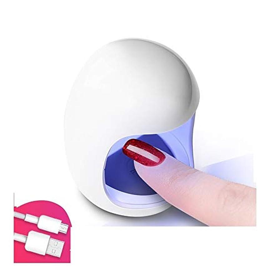 アルファベット立派な四分円LittleCat ネイル光線療法のミニUSB太陽灯ライトセラピーランプLEDランプ速乾性ネイルポリッシュベーキングゴム (色 : White+USB cable)