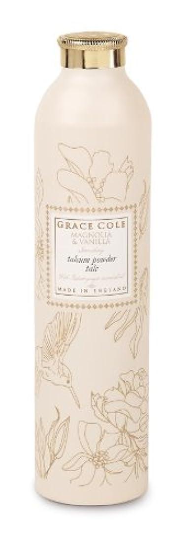 動揺させるウイルス絶妙Grace Cole Floral Collection タルカムパウダー マグノリア&バニラ 200g