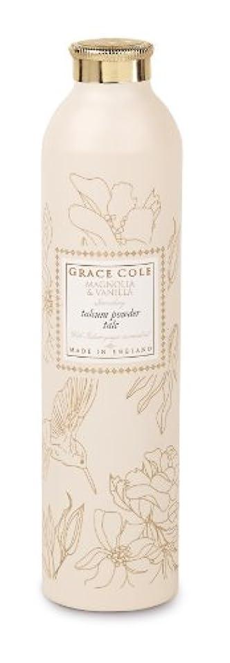 発音ドキドキひもGrace Cole Floral Collection タルカムパウダー マグノリア&バニラ 200g
