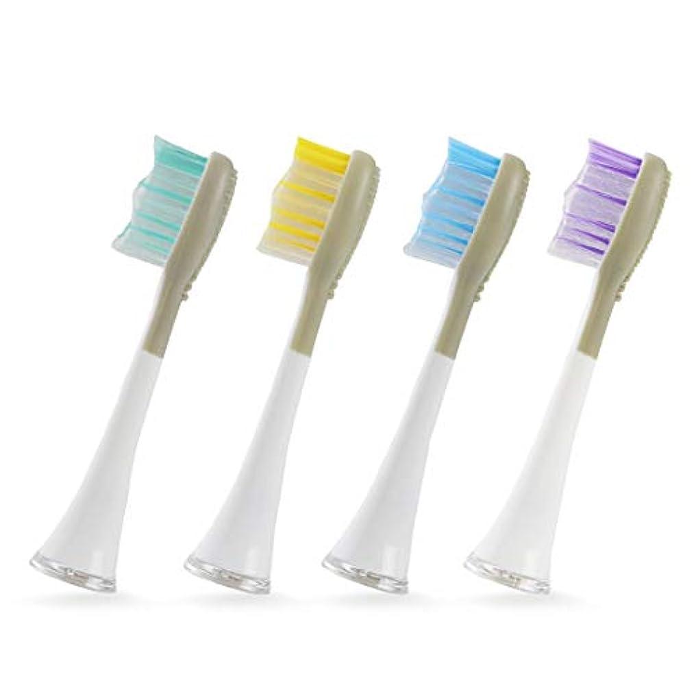 塗抹代名詞自分のためにクルラ(Qurra) 電動歯ブラシ 音波式 Basic 替えブラシ 4個セット 舌クリーナー 付