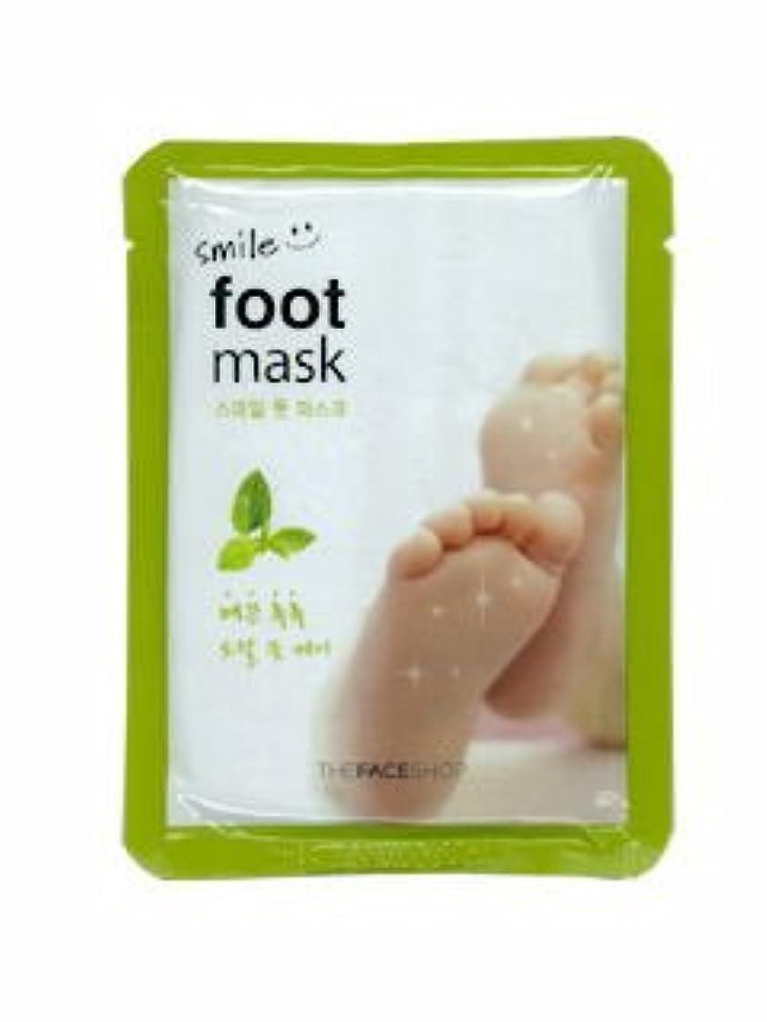 後ろにびっくりする証明書【THE FACE SHOP ( ザフェイスショップ )】 SMILE FOOT MASK スマイル フット マスク