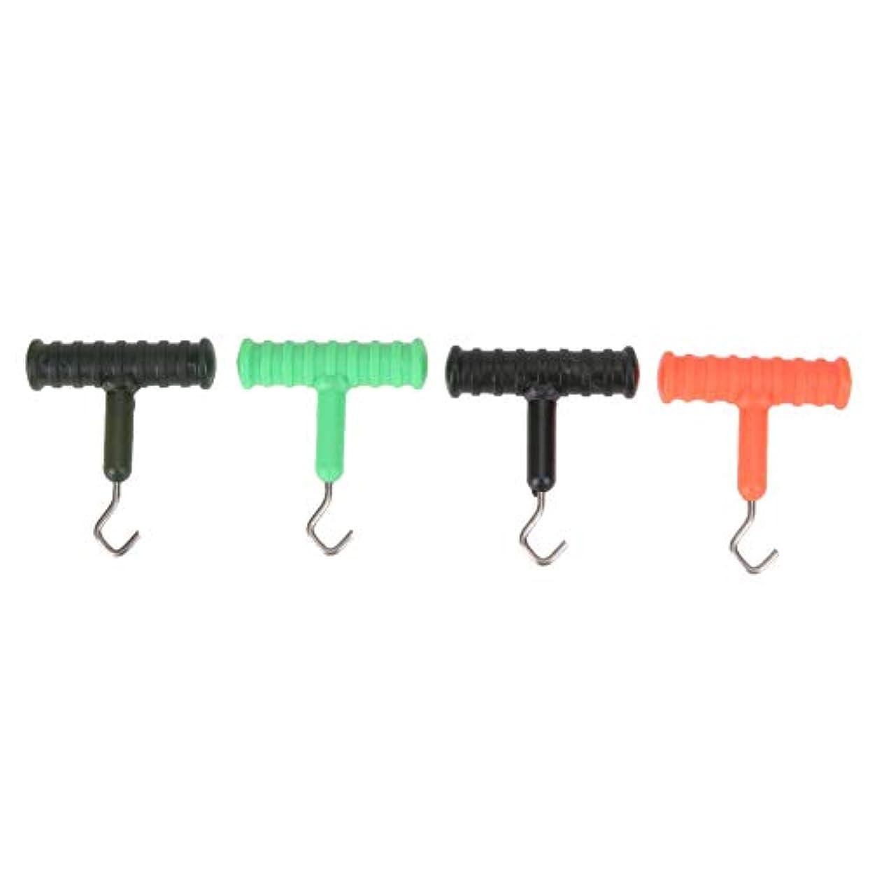 量で絶対の調停するCUHAWUDBA 4個、鯉釣りノット プーラーのツール リグの作成ツール 海釣りリグのツール