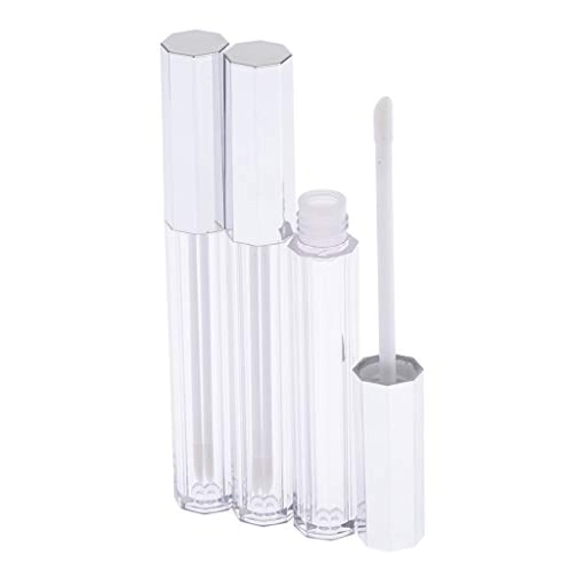 父方の命令的ボットリップグロス 容器 チューブ クリア リップスティックチューブ プラスチック 5ml 3個セット
