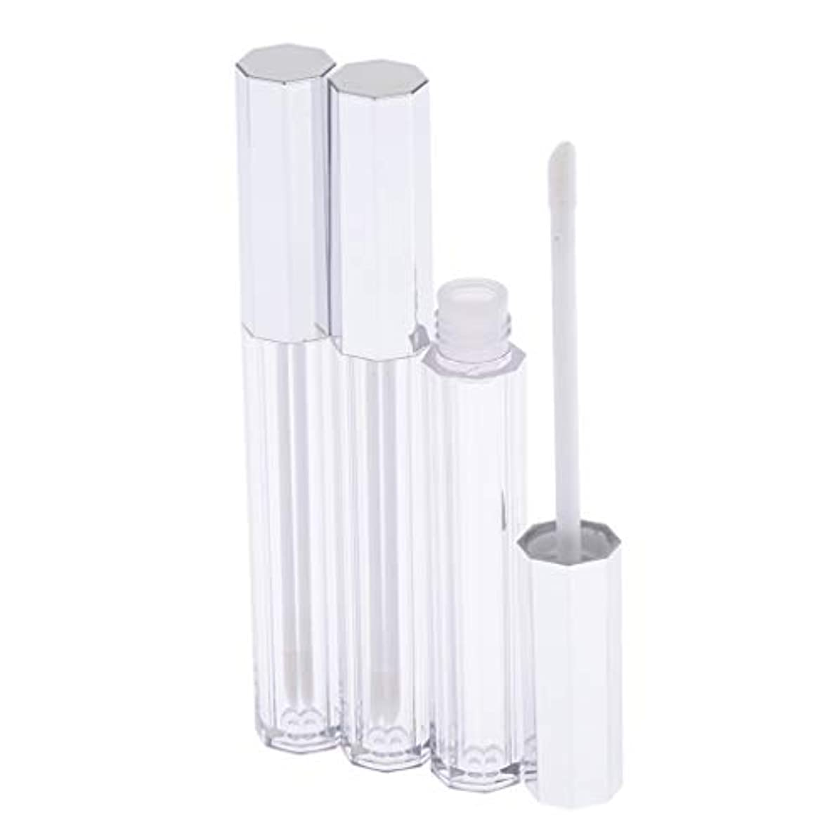 フラスコ解釈する株式会社SM SunniMix リップグロス 容器 チューブ クリア リップスティックチューブ プラスチック 5ml 3個セット