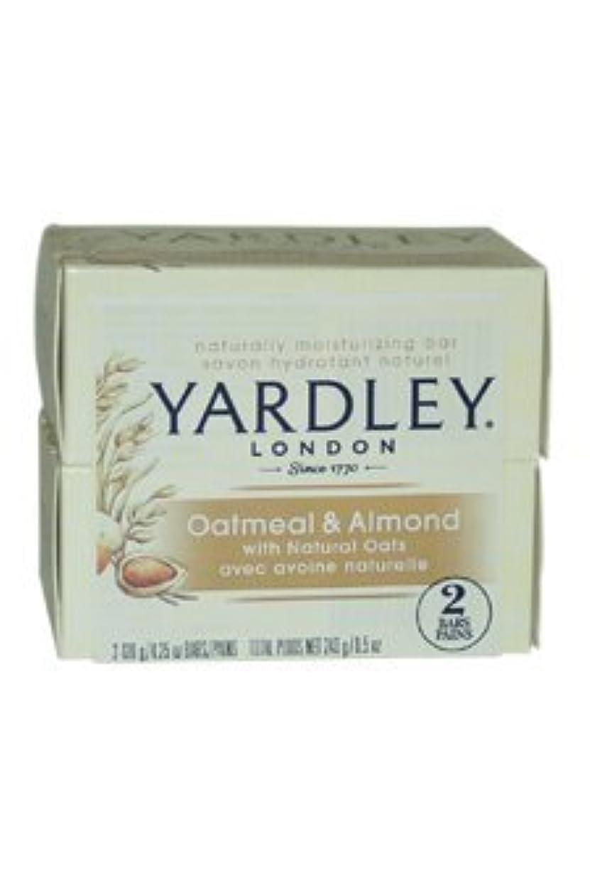 無限大プランテーション種類Oatmeal and Almond Bar Soap by Yardley - 2 x 4.25 oz Soap by Yardley [並行輸入品]