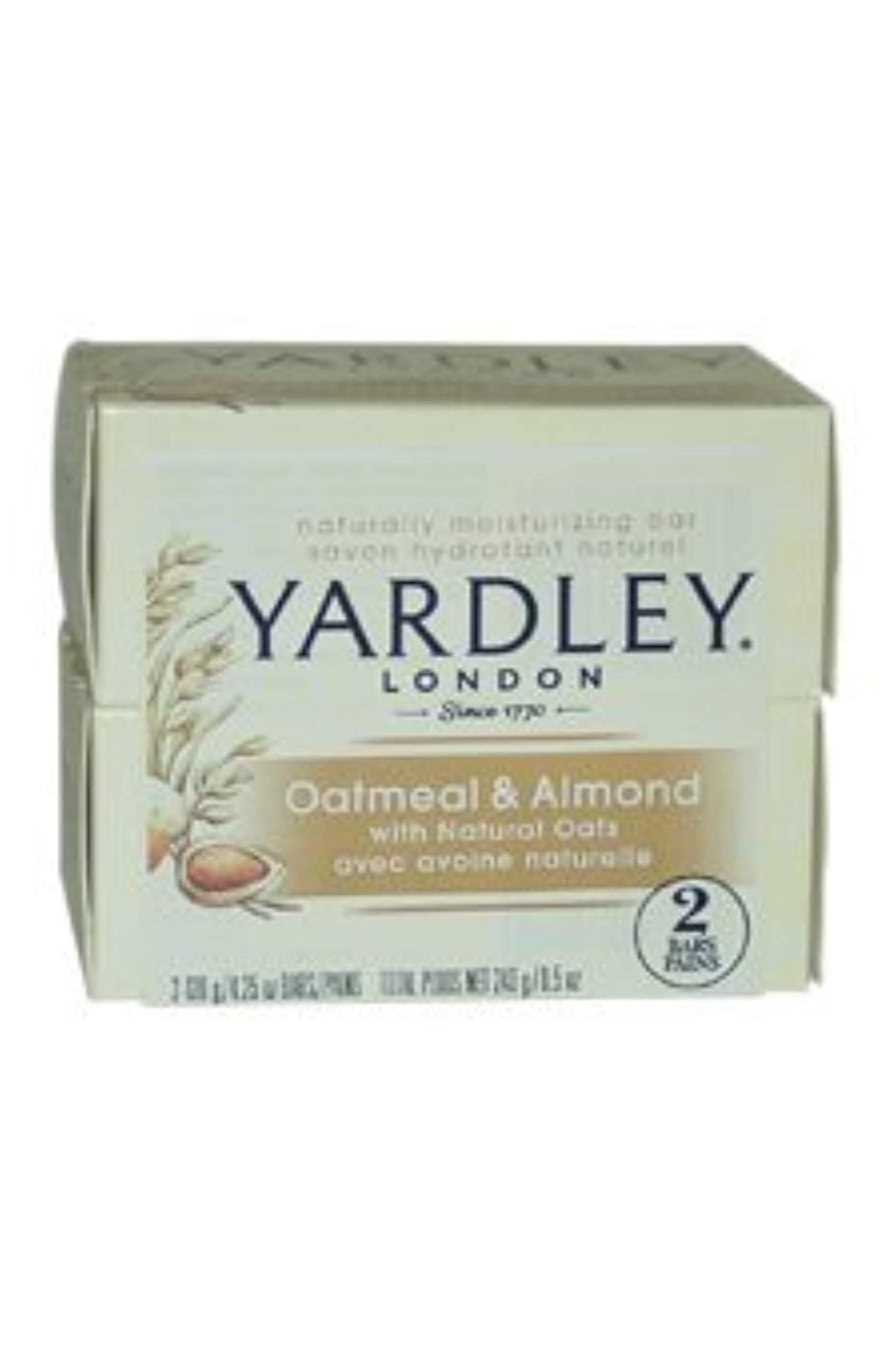 Oatmeal and Almond Bar Soap by Yardley - 2 x 4.25 oz Soap by Yardley [並行輸入品]