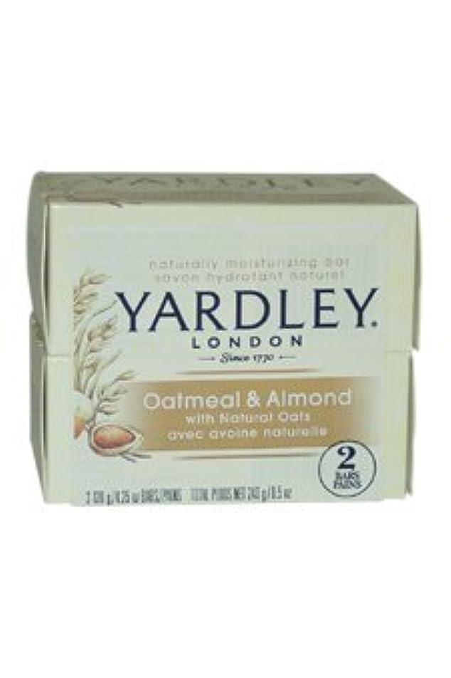 武装解除ピンチ概してOatmeal and Almond Bar Soap by Yardley - 2 x 4.25 oz Soap by Yardley [並行輸入品]