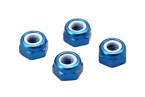 3mmアルミナイロンロックナット (ブルーアルマイト4個入) ZC-N3AB