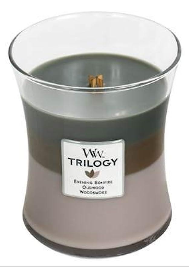 事実上対応するリーフレットCozyキャビンWoodWick Trilogy 10オンス香りつきJarキャンドル – 3 in 1つ