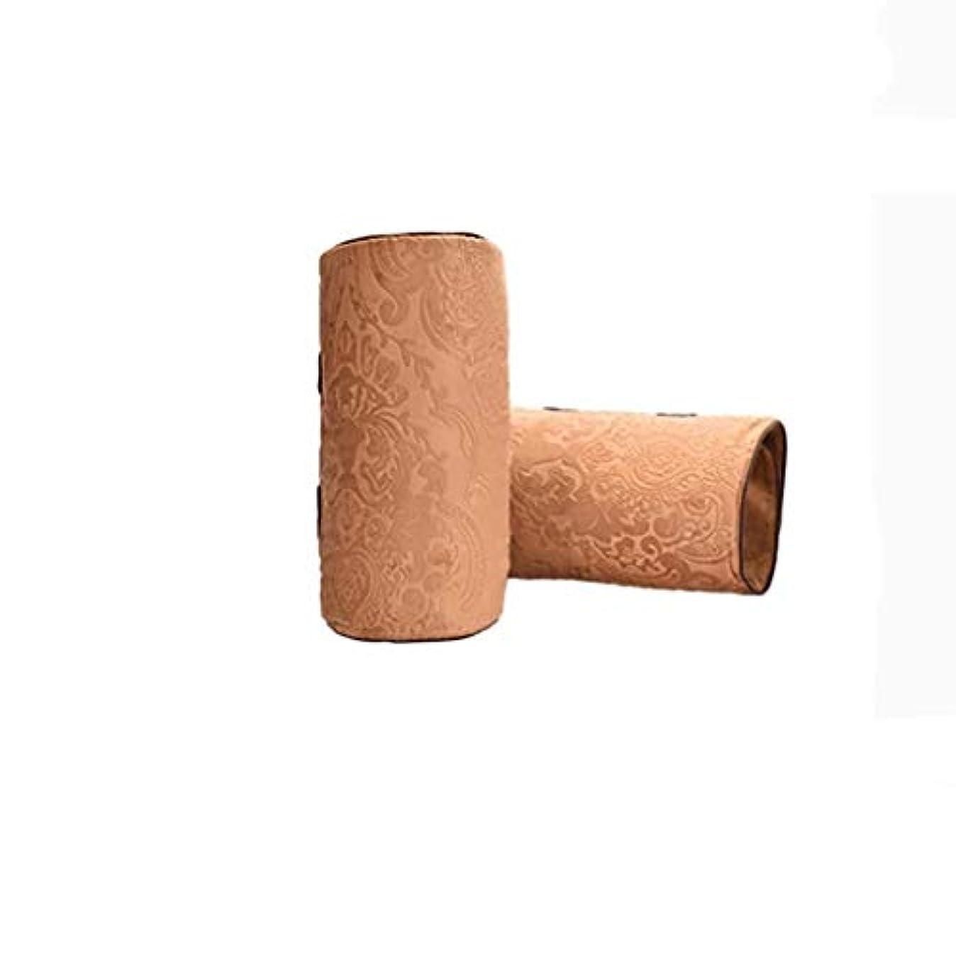 扱いやすい香港香港電気膝パッド、温かい寒い膝、温湿布M、半月板、脚の痛み、理学療法、関節の炎症を和らげる (Color : Brown)