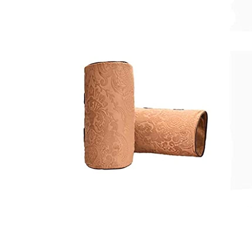 おかしいありがたいぐったり電気膝パッド、温かい寒い膝、温湿布M、半月板、脚の痛み、理学療法、関節の炎症を和らげる (Color : Brown)