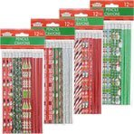 3 Dozen (36) Christmas Pencil Assortments and 12 Christmas Erasers [並行輸入品]