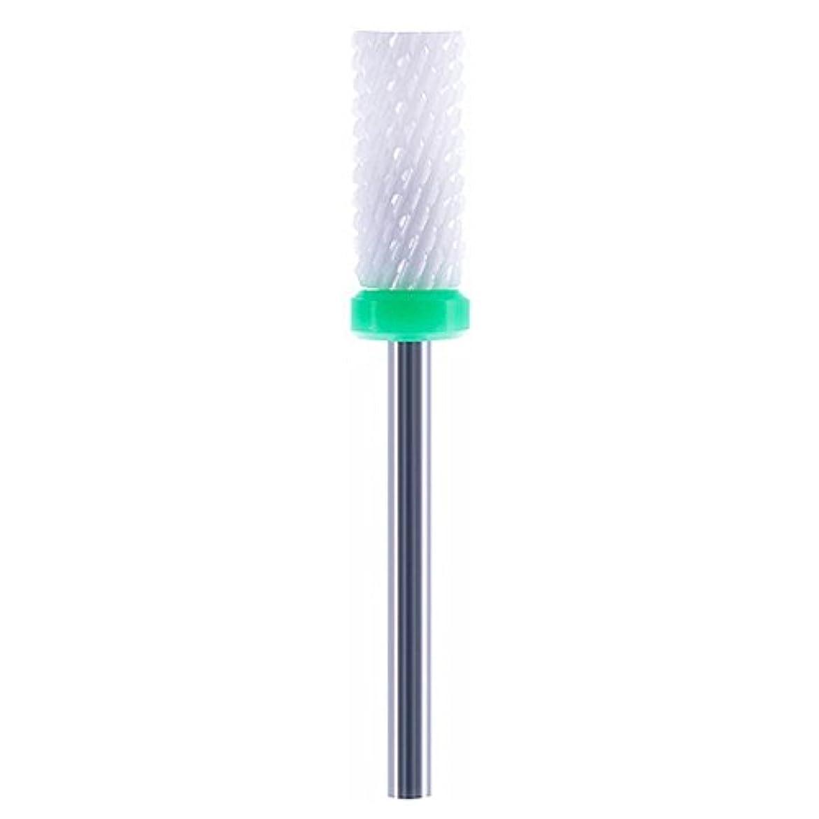 報いる軽減固体ネイルドリルビット ネイルアートドリル マニキュア ドリルファイル 研削ネイル 研磨 陶磁器 グリーン