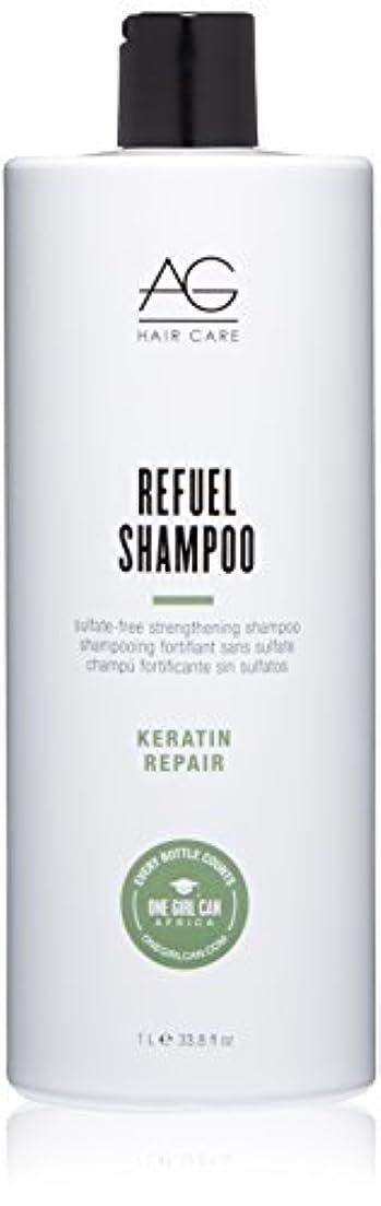 威する松明調和のとれたAG Hair Refuel Sulfate Free Strengthening Shampoo, 33.80 Ounce by AG Hair Cosmetics
