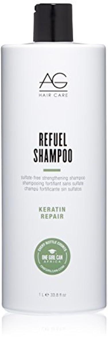 肉競争生産的AG Hair Refuel Sulfate Free Strengthening Shampoo, 33.80 Ounce by AG Hair Cosmetics