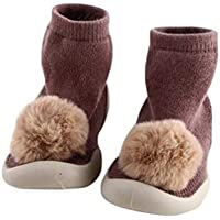Xiang Ru Newborn Toddler Baby Anti-slip Slipper Floor Socks - Lovely Ball Middle Tube - Cotton Thick Terry Cloth