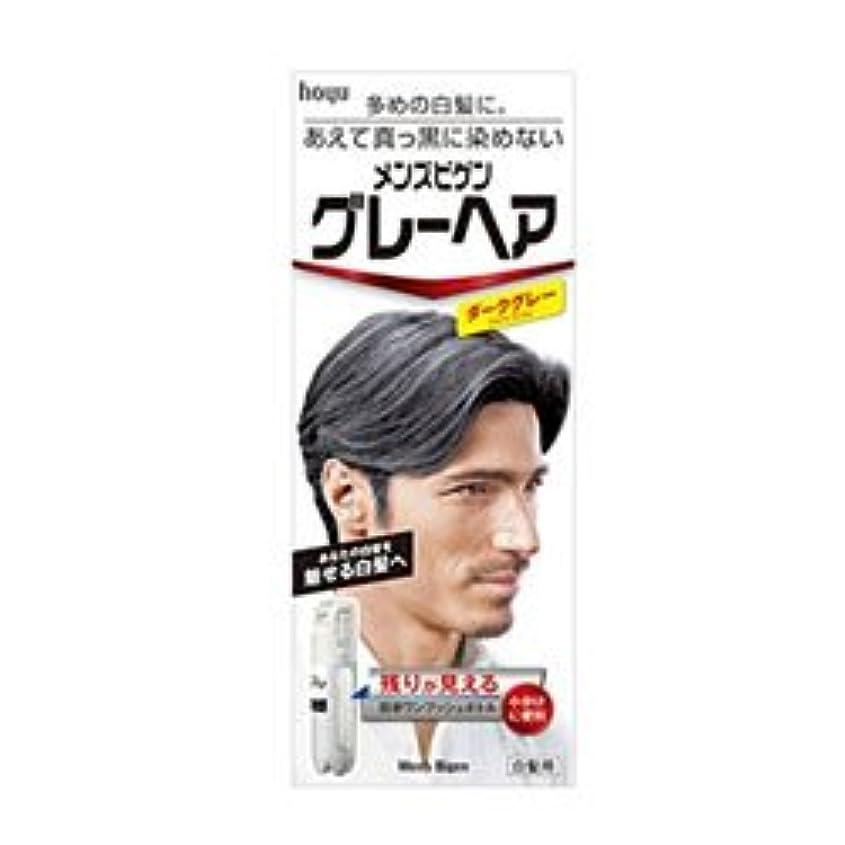 頬骨簡単な伴う【ホーユー】メンズビゲン グレーヘア ダークグレー 40g+40g ×5個セット