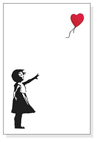 ポスター バンクシー Balloon Girl 赤い風船と少...
