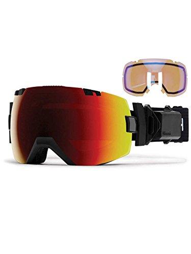 Smith Optics I/OX ski-turboファンSnowboardbrilleブラック???ChromaPopレッドミラー太陽