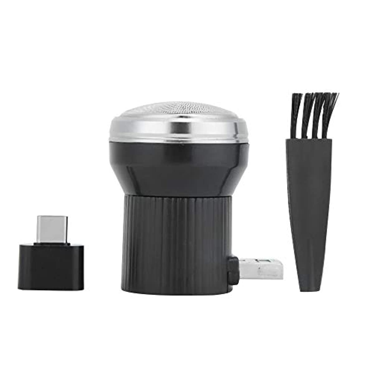 完璧パプアニューギニアパールDC5V 4.5W メンズシェーバー 髭剃り 回転式 USBシェーバー 携帯電話/USB充電式 持ち運び便利 電気シェーバー USBポート