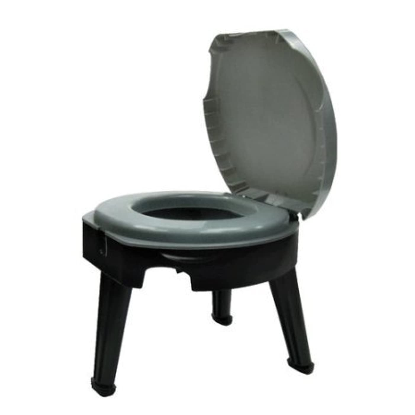 粗いスケッチ行列Folding Portable Camping Toilet with Plastic Construction by Ozark Trail