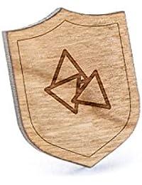 Tortilla Chipsラペルピン、木製ピンとタイタック|素朴な、ミニマルGroomsmenギフト、ウェディングアクセサリー