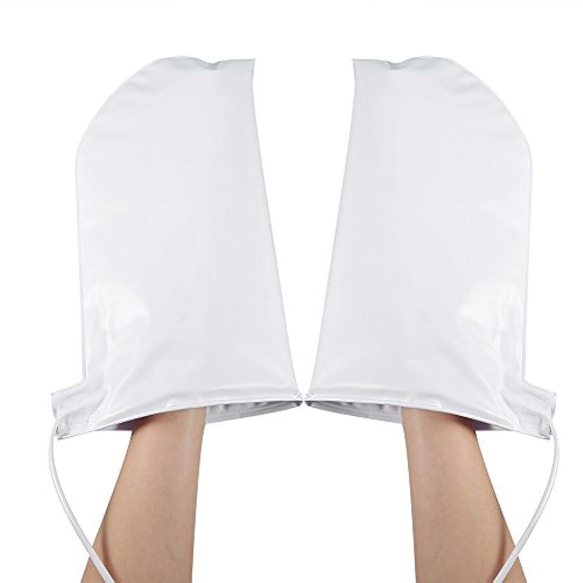 不定実行可能ボーカル加熱ミット、パラフィンワックスマニキュアSPAハンドケアミトン用加熱手袋