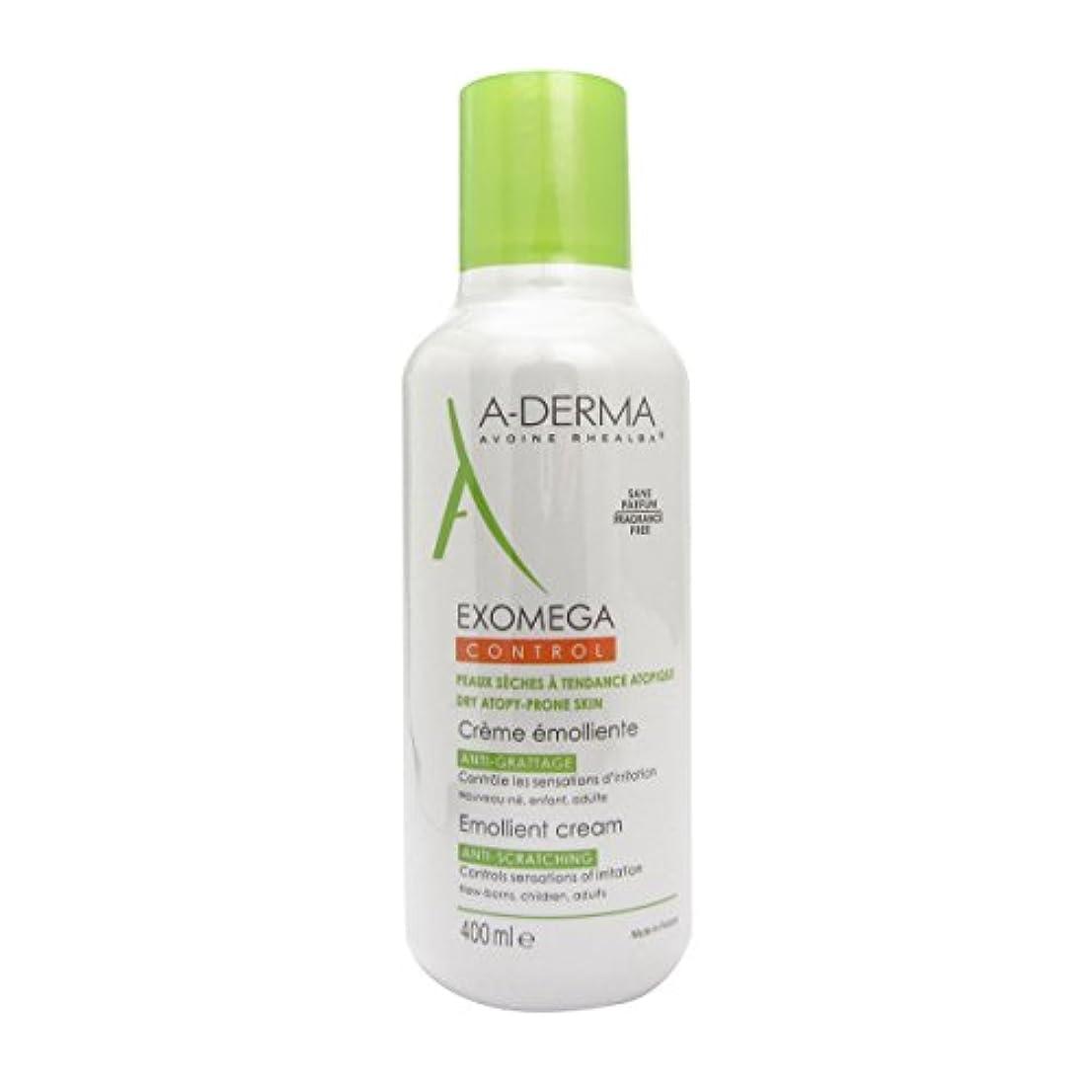 通り抜ける実証するメンダシティA-derma Exomega Control Emollient Cream 400ml [並行輸入品]